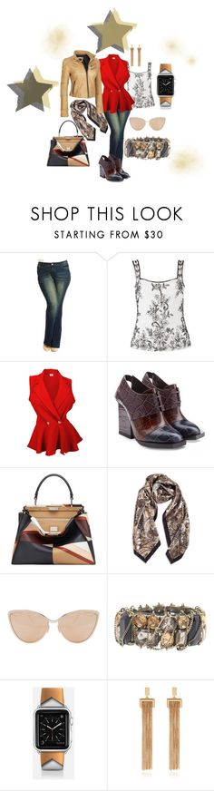 """""""Everyday Wear"""" by dion-allen322 on Polyvore featuring City Chic, Gina Bacconi, Jil Sander, Fendi, Cutler and Gross, Lane Bryant, Casetify, Chloé, Black Rivet and plus size clothing"""