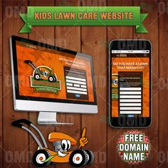 Kids Lawn Care Business Scheduling Website  by kidentrepreneurs