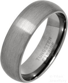 7mm Men's Brushed Classic Court Tungsten Carbide Wedding Ring
