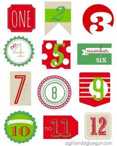 advent calendar number printables christmas. Black Bedroom Furniture Sets. Home Design Ideas
