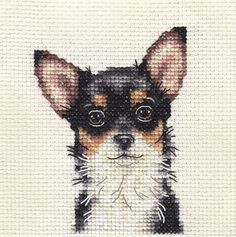 CHIHUAHUA ~ DOG ~ Full counted cross stitch kit with all materials | eBay