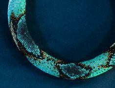 Blue Snake - fantastic crocheted rope necklace by manganic. See website for more colourways.