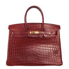 92033d285c38 Hermes  Rouge H Red Birkin 35cm Hermes Matte Nilo Crocodile Bag Gold Ghw