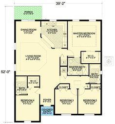 Plan 32212AA: Small 4 Bedroom Mediterranean House Plan