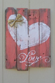 Shabby-Chic Love  Sign by SouthernHeartsHome on Etsy                                                                                                                                                                                 More