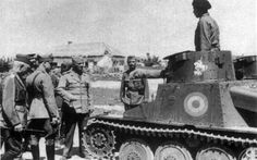 General Pantazi inspecting the Mechanised Squadron of the Cavalry Division in Crimea, 8 August Light Tank) Ww2 Tanks, Military Photos, Axis Powers, Panzer, Armed Forces, World War Ii, Romania, Troops, Military Vehicles