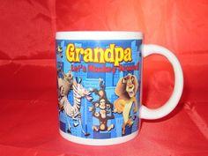 Madagascar Grandpa Let's Monkey Around  Dreamworks Ceramic Coffee Cup Mug Cup