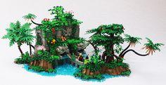 Lego The Temple of the Twin Jaguars Lego Design, Legos, Lego Tree, Lego Builder, Lego Construction, Lego Castle, Cool Lego Creations, Lego Architecture, Lego Moc