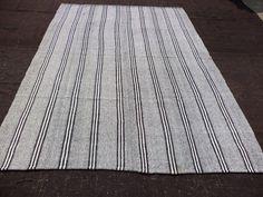 Feet Vintage Home Decor Black And White Stripe Kilim Rug Decorative Anatolian Ethnic