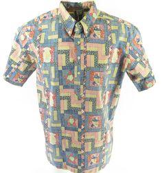 486841f4 Reyn Spooner 4th of July Uncle Sam Shirt XL 2000 Limited Edition Americana
