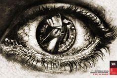 Poster - campanha contra abuso sexual. Conceito e Direção de criação