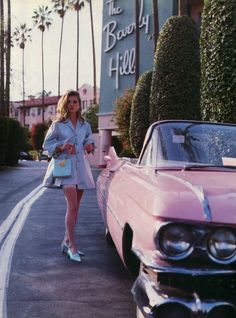 Vintage inspired photo of Kate Moss at the Beverly Hills Hotel