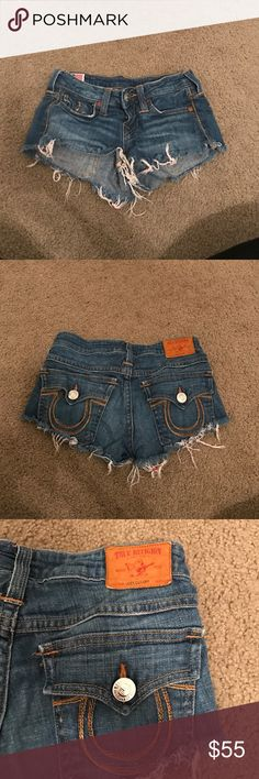 True religion jean shorts Good condition True Religion Shorts
