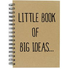 Note Book Little Book of Big Ideas a5 Hard Back Great Quality Lined... (€10) ❤ liked on Polyvore featuring home, home decor, stationery, fillers, books, accessories, office, text, backgrounds and grey