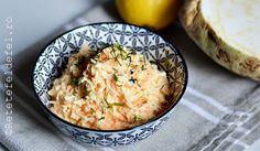 Salata de telina cu morcov si maioneza,o salata simplasi gustoasa,perfecta langa o friptura … 30 Minute Meals, Okra, Quinoa, Risotto, Potato Salad, Mashed Potatoes, Vegetarian Recipes, Ethnic Recipes, Food