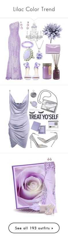 """""""Lilac Color Trend"""" by yours-styling-best-friend ❤ liked on Polyvore featuring lavender, lilac, Art Addiction, Romona Keveža, Steve Madden, Ippolita, Sydney Evan, Bling Jewelry, MM6 Maison Margiela and Pier 1 Imports"""