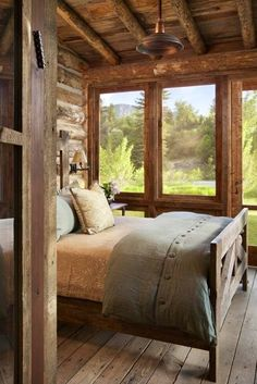 A nice Cozy Bedroom built onto the Covered Porch | ♥
