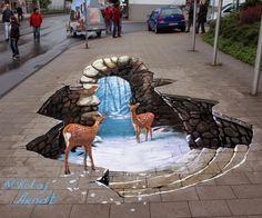 Уличные 3D-рисунки Николая Арндта (Nikolaj Arndt)