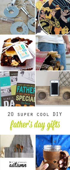 The coolest handmade Father's Day gift ideas. 20 DIY gifts for Dad that he'll actually love!