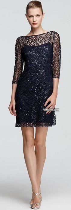 Kay Unger Lace Dress - Sequins