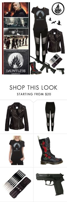 """Dauntless - Cassandra ""Cassie"" Striker"" by fashionqueen76 ❤ liked on Polyvore featuring Anine Bing, River Island and Dr. Martens"