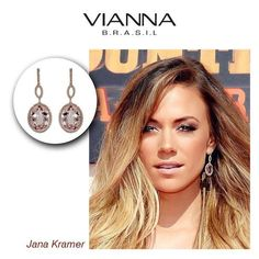 "*GORGEOUS NEW MOM Jana Kramer!*  Country singer Jana Kramer and her husband, former NFL tight-end Michael Caussin, welcomed past January their first child, a daughter, named Jolie Rae Caussin. Here you can see her wearing amazing VIANNA BRASIL Gemstonees Earrings and inspiring everyone for her first Mother's Day!  ""Words can't even begin to describe how much happiness I'm feeling right now,"" Kramer, 32, told People Magazine exclusively."