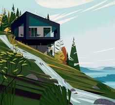 Heard of the latest lifestyle craze? Theres plenty of inspiration for its mantra of cosy contentment in our illustrated collection of including this Salt Spring Island beauty by cruschiform / TASCHEN Art And Illustration, Gravure Illustration, Vector Illustrations, Contemporary Illustrations, Character Illustration, Bts Design Graphique, Art Graphique, Posca Art, Poster Design