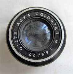 Starting Sunday, 25 Sept at 8pm - Only £2.95 = AGFA COLOSTAR N 1:4.5 /77 ENLARGING LENS - FOR SPARES #Agfa