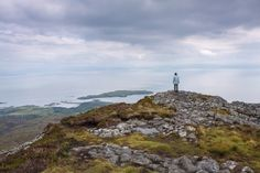 Being on top of An Sgurr is just wonderful. And you have a great view over the Isle of Eigg and the small Castle Island.