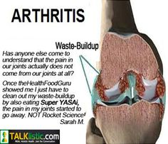 Arthritis Testimonial from https://theHealthFoodGuru.com