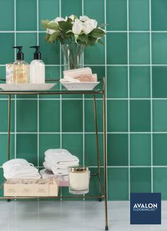 Riviera 4x6 Subway Tile shown in the Rimini Green color | Available at Avalon Flooring | Starting at $9.99/square foot | #subwaytile #tiledesign #homedesign