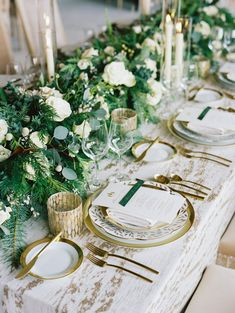 La Tavola Fine Linen Rental: Baylis Rain Gold with Velvet Ivory Napkins  | Photography: Ryan Ray Photography, Event Planning & Design: Elise Events, Floral Design: Nancy Liu Chin, Paper Goods: Yonder Design, Venue: Ritz Carlton Lake Tahoe, Rentals: Theoni Collection and Hensley Event Resources