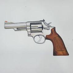 """좋아요 49개, 댓글 1개 - Instagram의 부산연지[천년의미소](@jmoobin)님: """"빵야빵야#magnum #drawing #design #illust #art #기초디자인 #기초표현 #개체표현 #개체묘사 #디자인 #드로잉 #일러스트 #권총#매그넘#입시디자인…"""" Cute Doodles, Hand Guns, Drawings, Illustrations, Firearms, Pistols, Cute Doodle Art, Illustration, Sketches"""