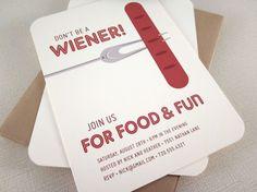 Hot Dog Party Invitations