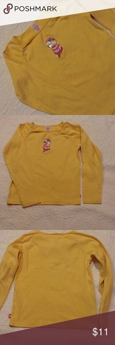Gymboree bubble gum shirt So cute! Long sleeves, gathered/shirred on raglan sleeve front. 100% cotton, machine wash cold. Used condition with normal wear. Gymboree Shirts & Tops Tees - Long Sleeve