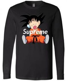Supreme DBZ Goku Napping Long Sleeve - Shop Supreme x Dragonball Fans Mens Sleeve, Son Goku, Graphic Sweatshirt, T Shirt, Dbz, Dragon Ball, Supreme, Tank Man, Sweatshirts