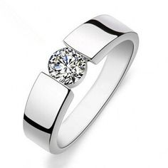 Free shipping hot sell shiny zircon stone 925 sterling silver men`s rings/man wedding finger ring jewelry gift http://cinderellajewelry.com/
