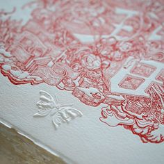 Signing the limited edition letterpress print that will be inserted into the box edition of Xenograph. Barring any unforeseen delays we will be shipping all books in September! #xenograph #letterpress #embossment by jamesjeanart