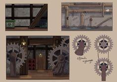 "ArtStation - ""Spirited Away pixel"" art game, Ulrich Maillot"