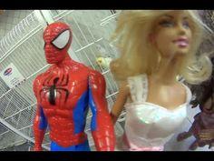 Homem Aranha Spiderman Barbie Noiva Pet Shop Loja  Animais  Brinquedos J...
