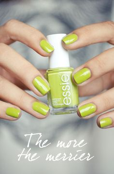chartreuse nails