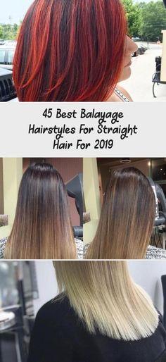 45 Best Balayage Hairstyles For Straight Hair For 2019 - Hair Styles - Hair Style Ideas Ash Blonde Balayage Short, Balayage Asian Hair, Brown Balayage, Hair Color Balayage, Grey Hair Dark Roots, Dark Hair, Hairstyles With Bangs, Straight Hairstyles, Long Straight Black Hair