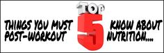 Top five things you MUST know about post-workout nutrition - Charles Poliquin