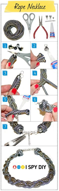 I Spy DIY: [My DIY] Rope Necklace