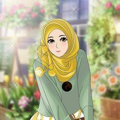 Drawing Cartoon Characters, Cartoon Girl Drawing, Cartoon Drawings, Cartoon Art, Cartoon Photo, Cute Cartoon Girl, Islamic Posters, Islamic Art, Boboiboy Anime