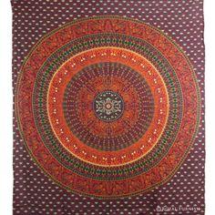 Power Source Custom Soft Fleece Throw Blanket Mandala Decor Sun Goddess Illustration Yantra Mandala Art Ethnic Indian Floral Pattern Boho