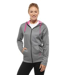 """Reebok Women's Pink Ribbon Hoodie Long Sleeve Tops 