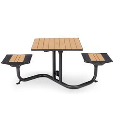 Beacon Hill Recycled Plastic Bistro Table, 2 Flat Seats | Picnic Tables | Upbeat.com