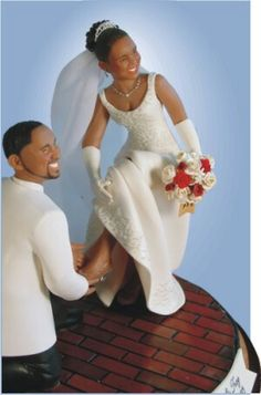 Trendy ideas for wedding hairstyles african american cake toppers Black People Weddings, Black Wedding Cakes, Cake Wedding, Wedding Cupcakes, Disney Cake Toppers, Afro, African American Weddings, Peacock Wedding, Wedding Inspiration