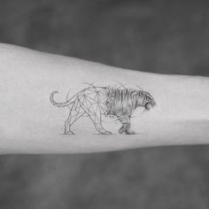 Nice geometric tiger tattoo idea by mr.k_tattoo